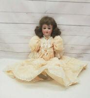 "Simon & Halbig S&H Santa Bisque Head Composition Doll 1248 7 20"" Blue Sleepy Eye"