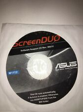 ScreenDUO Software Support CD Rev.308.01 disc M1112-ASUS-NEW-VERY RARE VINTAGE