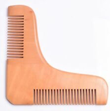 Pearwood Beard Comb shaping tool Hair Men Moustache Pocket grooming UK stock