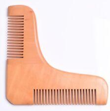 Pearwood Beard Comb shaping tool Hair Men Moustache Pocket grooming UK stock