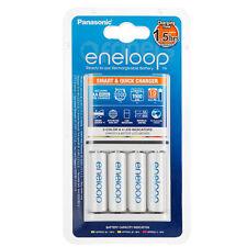 Carica Batterie Rapido Panasonic Eneloop BQ-CC55E + 4 pile NiMH AA size BK-3MCC