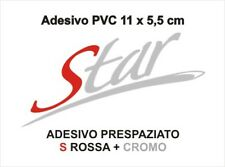 Adesivo Targhetta LML STAR S rossa PVC adesivi sticker scudo cofano VESPA kit