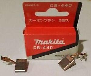 ORIGINAL MAKITA CB-440 CARBON BRUSH SET 195021-6 FOR MODELS: BPH452 oem