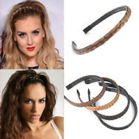 Elegant Women Girls Braided Synthetic Hair Plaited Headband Headwear Hair Band