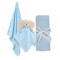 Baby Pram Set Boys Girls Blanket Teddy Comforter Present Princess Dog Baby Town