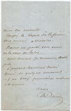 Alexandre Dumas (Père) Autograph Letter Signed c. 1859