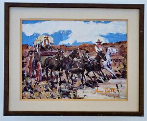 JAMES COLT Western Impressionist Landscape SIGNED Otis Art Chouinard Institute