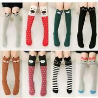 Kids Girls Over Knee Thigh High Long Socks Cartoon Animals Elastic Stockings Hot