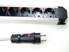 Highend ALU 3-fache Netzleiste Steckdosenleiste 2m Lapp Netzkabel Distributor