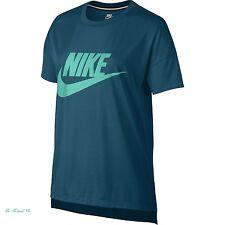 Nike Signal Logo Women's T-Shirt M Blue Teal Gym Casual Training Running New
