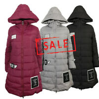 NEW Women Winter Quilted Padded Bubble Puffy Puffer Jacket Coat Parka Hood Warm