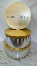 Vintage Lot Of 3 Nordstrom Hat Boxes Metallic Gold Silver Braided Silk Handles