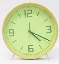 Relojes de pared redonda de color principal verde