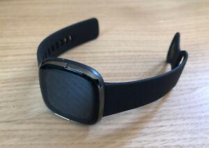 Fitbit Sense Suivi d'activité - Carbone/acier inoxydable graphite - NEUVE
