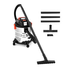 Netta Wet & Dry 1200W Vacuum Cleaner Vac Hoover 30L Stainless Steel