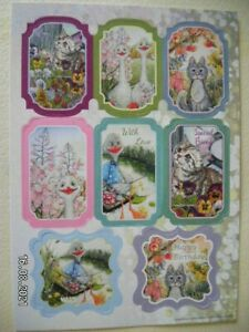 Beautiful Die Cut Toppers by Craft Channel.  'Ducks and Cats' (558) M