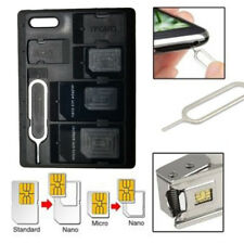 Memory Card Storage Case Holder SD Micro SD TF SIM Card Protecter Box Black