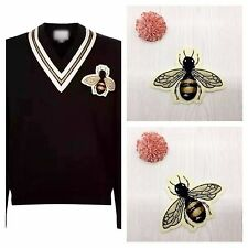2pcs Bee Cotton Embroidered Applique Sew On T-Shirt Patch DIY Fashion Clothing