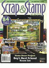 SCRAP & STAMP ARTS,  AUGUST / SEPTEMBER, 2015  VOL.17 ( BOKEH BASICS & BEYOND )