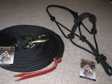 THOMEY NATURAL HORSE TRAINING HALTER & LEAD ROPE ~~ BLACK