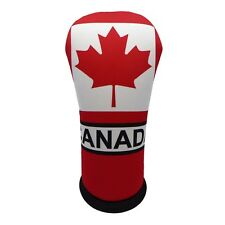 CANADIAN FLAG HYBRID Golf Club Head Cover Cover Easy ON & Off USA MADE