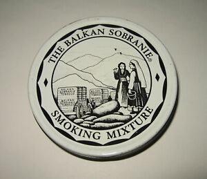 "Vintage 4"" Balkan Sobranie Smoking Mixture Tobacco Tin 50 gm 1¾ oz England Empty"