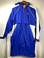 TYR - Adult XXS Insulated Blue/White Swimming PARKA Full Zip Long Jacket