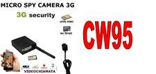 Bottone microspia Camera Spia Telecamera 3G Videochiamata diretta UMTS  CW95
