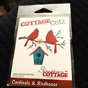 Cottage Cutz Cardinals and Birdhouse