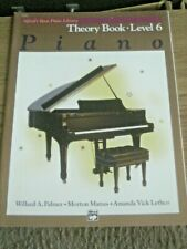 Alfred's Basic Piano Library Theory Book Level 6 Course