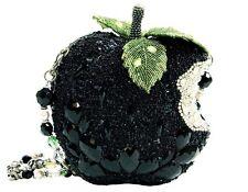 Mary Frances Handbag Wicked Black Apple Crystal Beaded Jeweled Shoulder Bag New