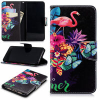 For Huawei Smart Phone Flamingo PU Leather Flip Wallet Stand Slots Case Cover