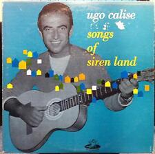 "1955 UGO CALISE songs of siren land 10"" Angel LP VG+ ANG-64022 Rare Italian Jazz"