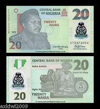 Nigeria 20 NGN 2015 Polymer P-NUOVO Nuovo di zecca UNC FIOR banconote