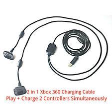 2 en 1 2.5M long USB Play + Chargeur Câble pour Xbox 360 manette