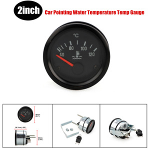 2In 52mm Car Pointing Water Temperature Temp Gauge 40 - 120 Celsius Degrees 24V