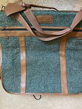 "Pierre Cardin Garment ""Wool""Green Bag Luggage Hanging Suit Bag Tag Vintage Great"