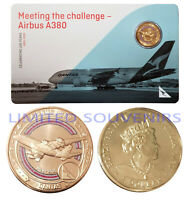 2020 $1 Qantas Centenary Coloured Coin Airbus A380  NEW SEALED