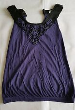 Ladies Oasis purple embellished vest top. Size 8.