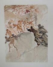 Salvador Dalí - Print - Wood Engraved - Lust, La Divine Comedy Dante
