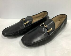 TOD'S GOMMINO Mens 12 Black Leather Driving Shoes US13 UK12 EU47 *Made In ITALY*
