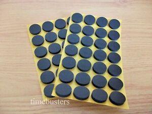 Sticky Foam Round Pads Dots Spots Discs CD DVD Blu Ray Disc Holder Black White