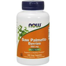Now Foods Saw Palmetto Berries 550 mg - 100 Capsules FRESH, FREE SHIPPING