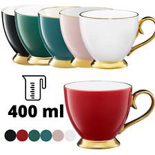 Kaffeetasse Gold Becher Porzellan Kaffeebecher Tasse Royal Vintage groß 400 ml