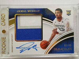 2016 IMMACULATE JAMAL MURRAY RC ROOKIE RPA AUTO #/49