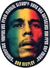 BOB MARLEY redemption song STICKER  **FREE SHIPPING**  window bumper reggae ska