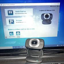 Logitech C615 Wide Screen 1080p HD Web Cam - Black