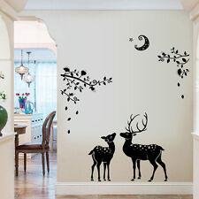 Deer Silhouette Wall Sticker Nursery Room Decal Vinyl Home Mural Decor