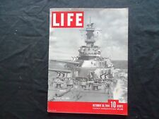 1944 OCTOBER 30 LIFE MAGAZINE - U.S.S. IOWA - L 415
