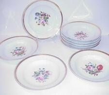 CHARLES HAVILAND LIMOGES LARGE SOUP BOWLS SET 9
